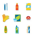 Household chemicals and cleaning supplies bottles vector image vector image