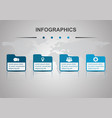 infographic design template with folders vector image vector image