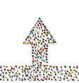 large group of people in grossing arrow vector image vector image
