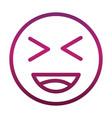 laugh close eyes funny smiley emoticon face vector image