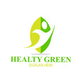 leaf healthy green logo designs simple vector image