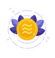 libra coin icon crypto currency vector image vector image