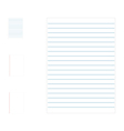 Line Paper Note vector image