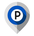 map pin parking symbol gps pointer folded from vector image