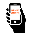 Mobile website icon vector image vector image