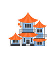 pagoda building asian architectural object vector image vector image