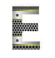 perforated metal letter E vector image vector image