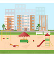 playground kindergarten city buildings views vector image vector image