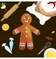 process of preparing Christmas treats and sweets vector image