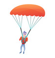 professional parachuter icon cartoon style vector image vector image