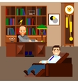 Psychologist concept flat isolated vector image vector image