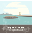 Qatar Retro styled image Fort Umm Salal Mohammed vector image vector image