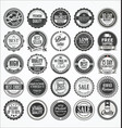 retro vintage badge and label collection 2 vector image vector image