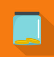 save money icon flat style vector image