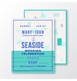 Sea Side Wedding Invitation Card or Ticket vector image
