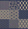 seamless japanese vintage traditional mesh pattern vector image vector image