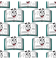 seamless pattern a happy science textbook vector image