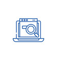 search site line icon concept search site flat vector image vector image