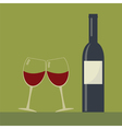 Serving wine vector image