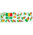 set national flag mali in various vector image vector image