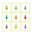 set of labels on design sticker collection vector image