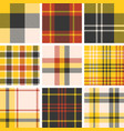 set of tartan seamless pattern vector image vector image