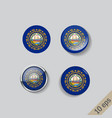 set round buttons with image new vector image vector image