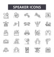 speaker line icons signs set linear vector image vector image