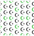 Star and crescent symbol seamless pattern vector image vector image