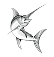 swordfish engraving vector image