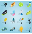 Tennis isometric set vector image vector image