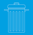 trash can with lid icon outline style vector image vector image