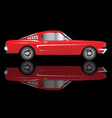 very fast red car vector image