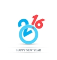 Colorful text design Happy new year 2016 vector image