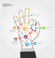 Modern Design hand dot Minimal style infographic vector image