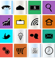 Set modern web icons vector image