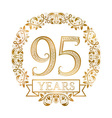 Golden emblem of ninety fifth years anniversary in