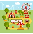 Amusement park infographic elements vector image