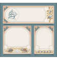 Set of sea vintage vacation frame banners labels vector image