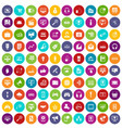 100 web and mobile icons set color vector image vector image