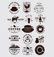 15 Coffee Vintage Badges vector image vector image