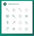 16 star icons vector image vector image