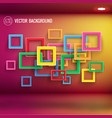 abstract colorful shapes 3d background vector image