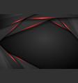 abstract metallic black red frame sport design vector image