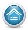 accommodation glossy icon vector image vector image