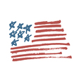 american flag calligraphy vector image vector image