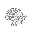 artificial intelligence ai icon ai brain concept vector image