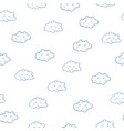 awesome seamless pattern with cute sleeping vector image vector image