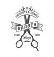 Barber Scissors Composition vector image vector image