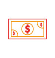 bills dollar isolated icon vector image